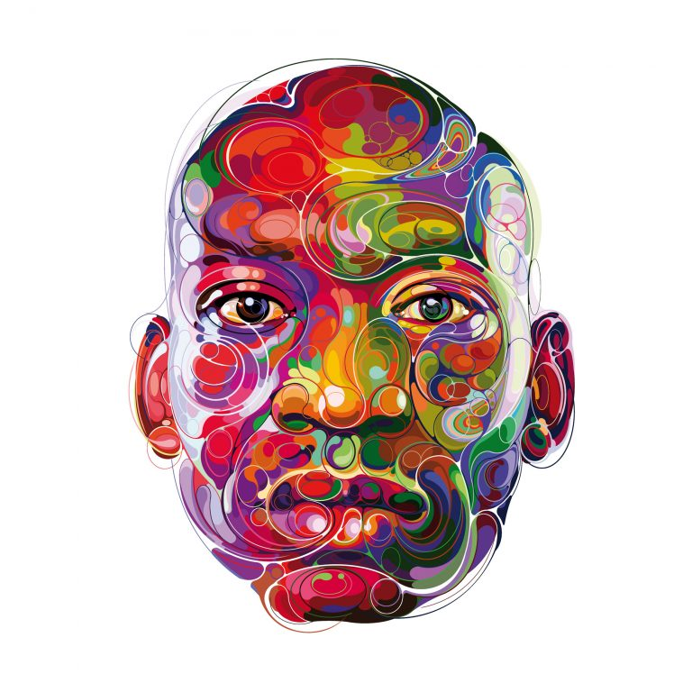 Energetic Lines Circulate Through the Dynamic, Vibrant Portraits of Martin Satí