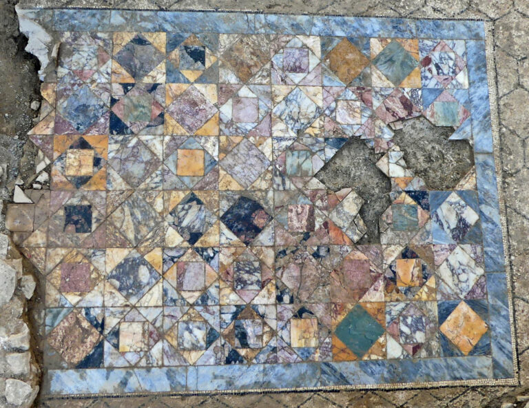Archaeologists Uncover a Lavish Marble Floor from Ancient Rome in Southern France