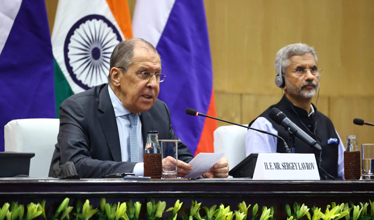 Indian and Russian foreign ministers meet for bilateral talks