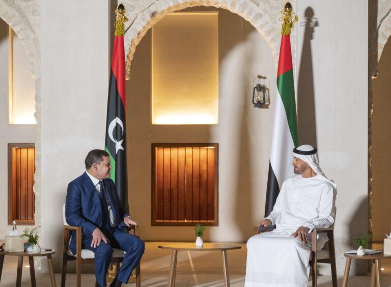 Abu Dhabi crown prince meets new Libyan leader
