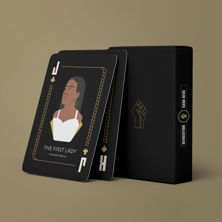 A Sleek Deck of Cards by Studio LO Honors 12 Black Figures Who've Revolutionized History