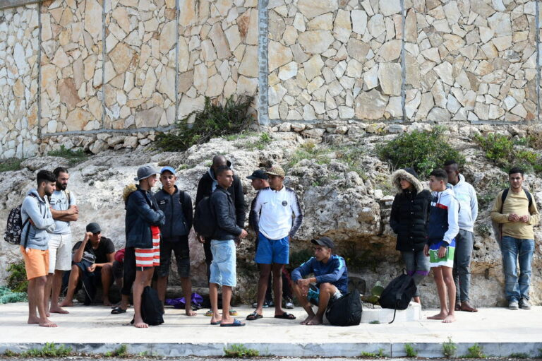 Boats carrying hundreds of migrants arrive in Italy's Lampedusa