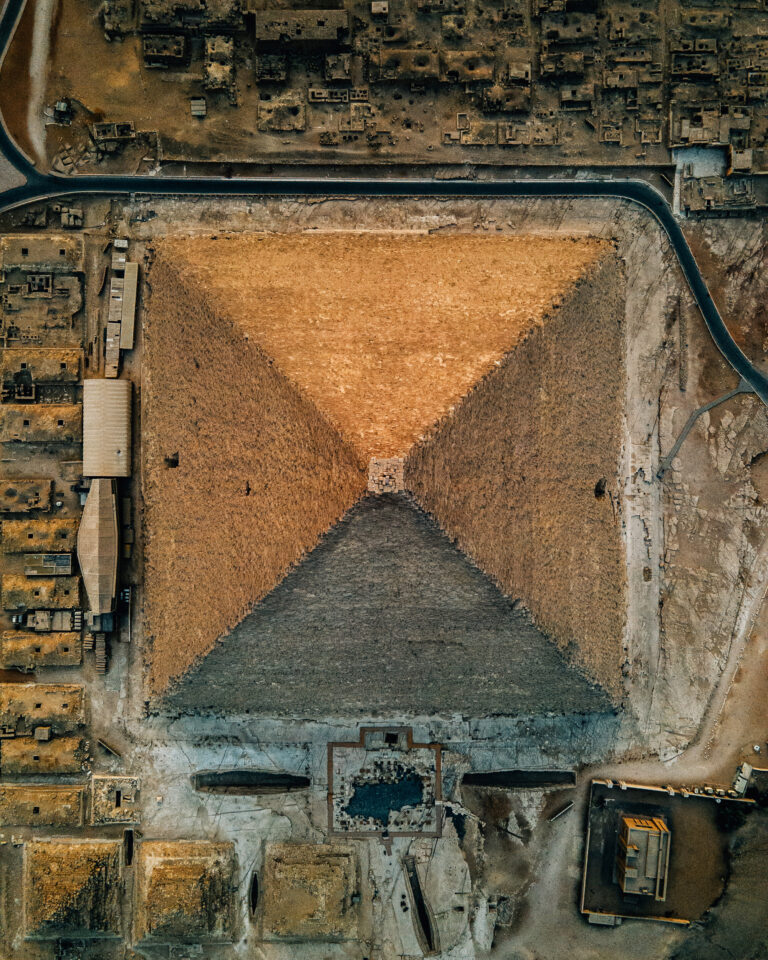 Spectacular Drone Views Of Giza Present the Pyramid in an Unusual Perspective