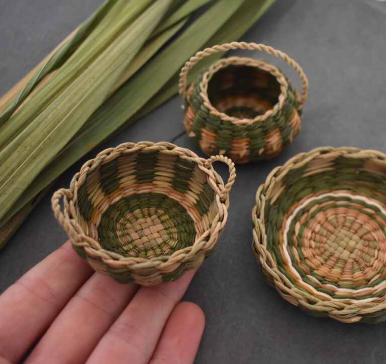 Tightly Woven Baskets Intertwine Invasive Plants and Weeds into Adorable Miniatures